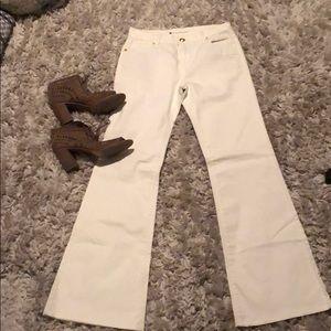 NWOT BCBG flare white jeans